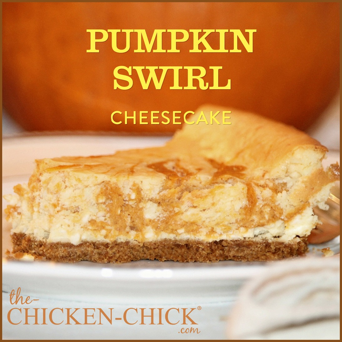 ... pumpkin swirl cheesecake is a decadent dessert that's sure to become a