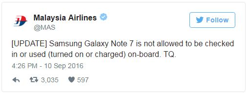 Garuda Indonesia Juga Keluarkan Aturan untuk Galaxy Note 7