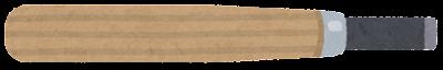 彫刻刀のイラスト(平刀)