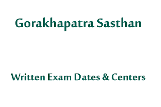 Written Exam Dates And Centers Gorakhapatra Sasthan