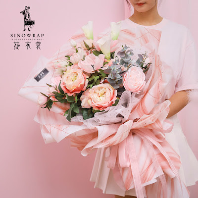 Kertas Buket Bunga / Flower Bouquet Wrapping Paper (Seri HX-032 / HX Marble)