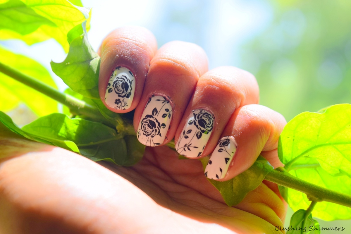 Rose Nail Water Decals