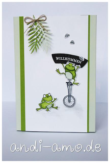 Verpackung Stampin Up Froschkönig