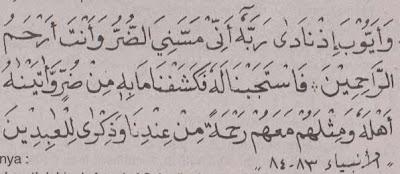 Surat Al Anbiyaa' ayat 83 sampai 84