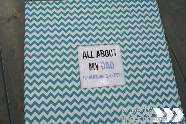 Cover of book for father's day printable