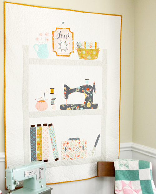 Sweet Sewing Shelves Applique - Quilt Tutorial