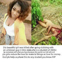 A Nigerian student from ABSU was killed after clubbing - [Graphic photo] Viewer discretion is advised