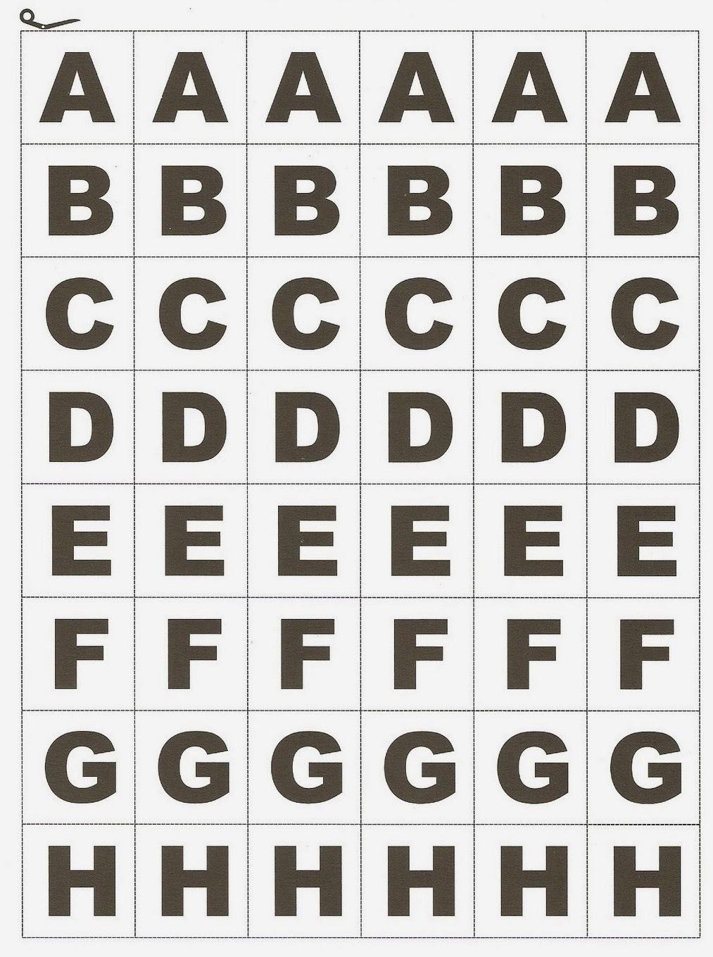 Alfabeto Móvel para imprimir — SÓ ESCOLA