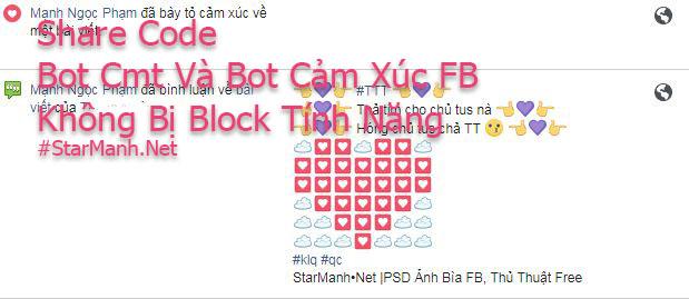 Code Bot Cmt Và Bot Cảm Xúc FB Không Bị Block Tính Năng