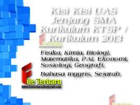 Download Kisi Kisi UAS Jenjang SMA Kurikulum KTSP /  Kurikulum 2013 Lengkap