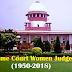 Supreme Court Women Judges List (1950 to 2018)