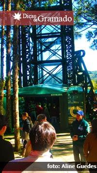 Entrada do elevador da Torre do Parque do Caracol - Canela/RS