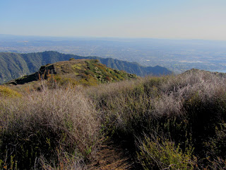 View south from Summit 2843 toward Glendora Ridge and Azusa