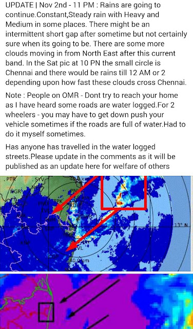 (Students Be Safe) National Weather Forecasting Reports: New Cyclonic formed near Chennai