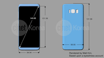 Samsung Galaxy S8 Render - cnet.co.kr