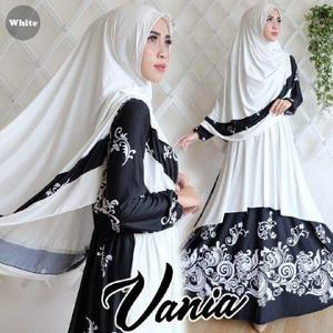 Agen Gamis Syar'i Terbaru Vania White Terlihat Cantik dan Modis