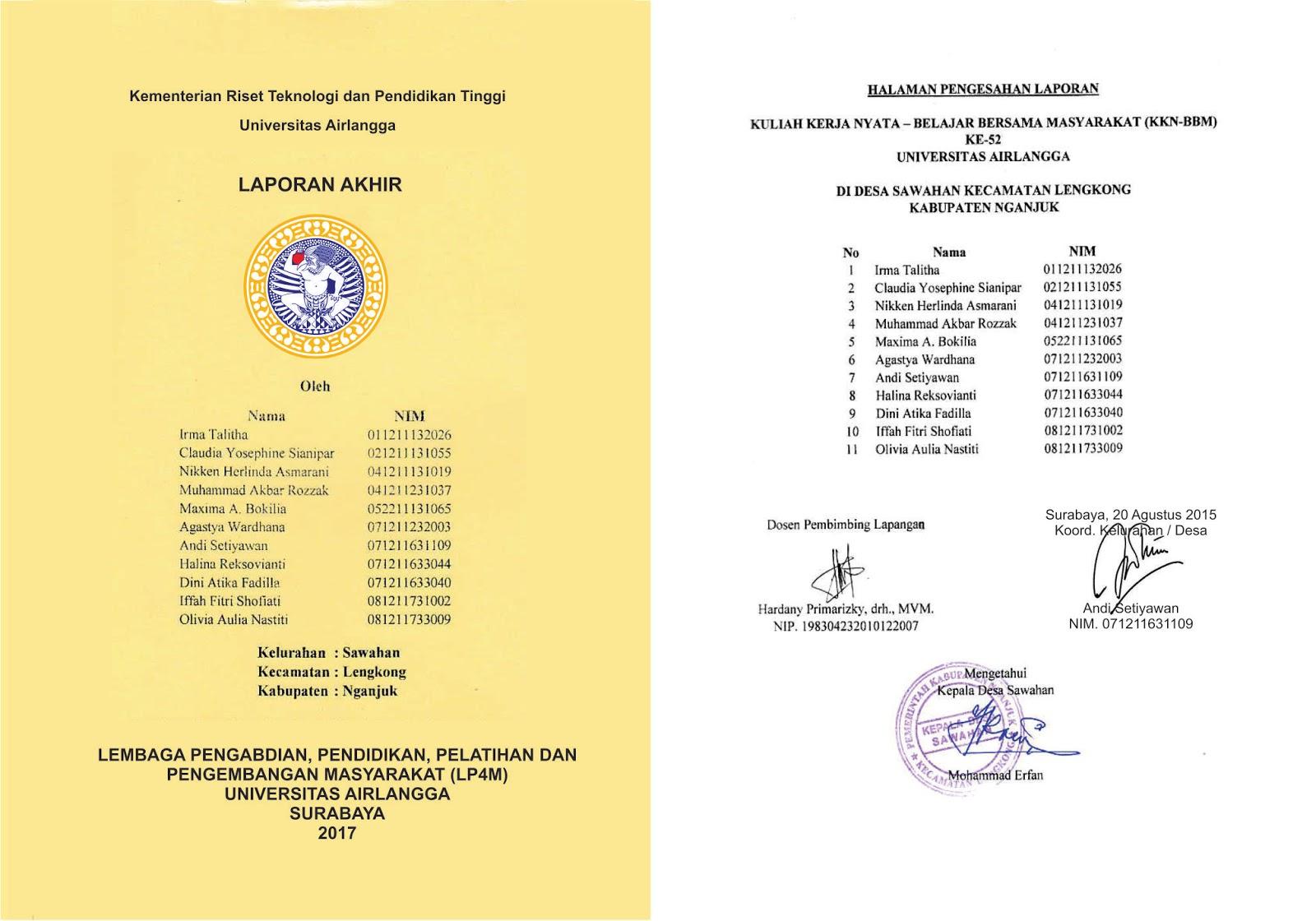 Informasi Kkn Bbm Universitas Airlangga Kkn Bbm 55