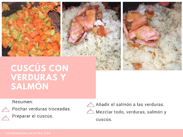 Receta de cuscús con verduras y salmón
