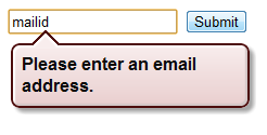 Custom validation messages for HTML5 Input elements using the