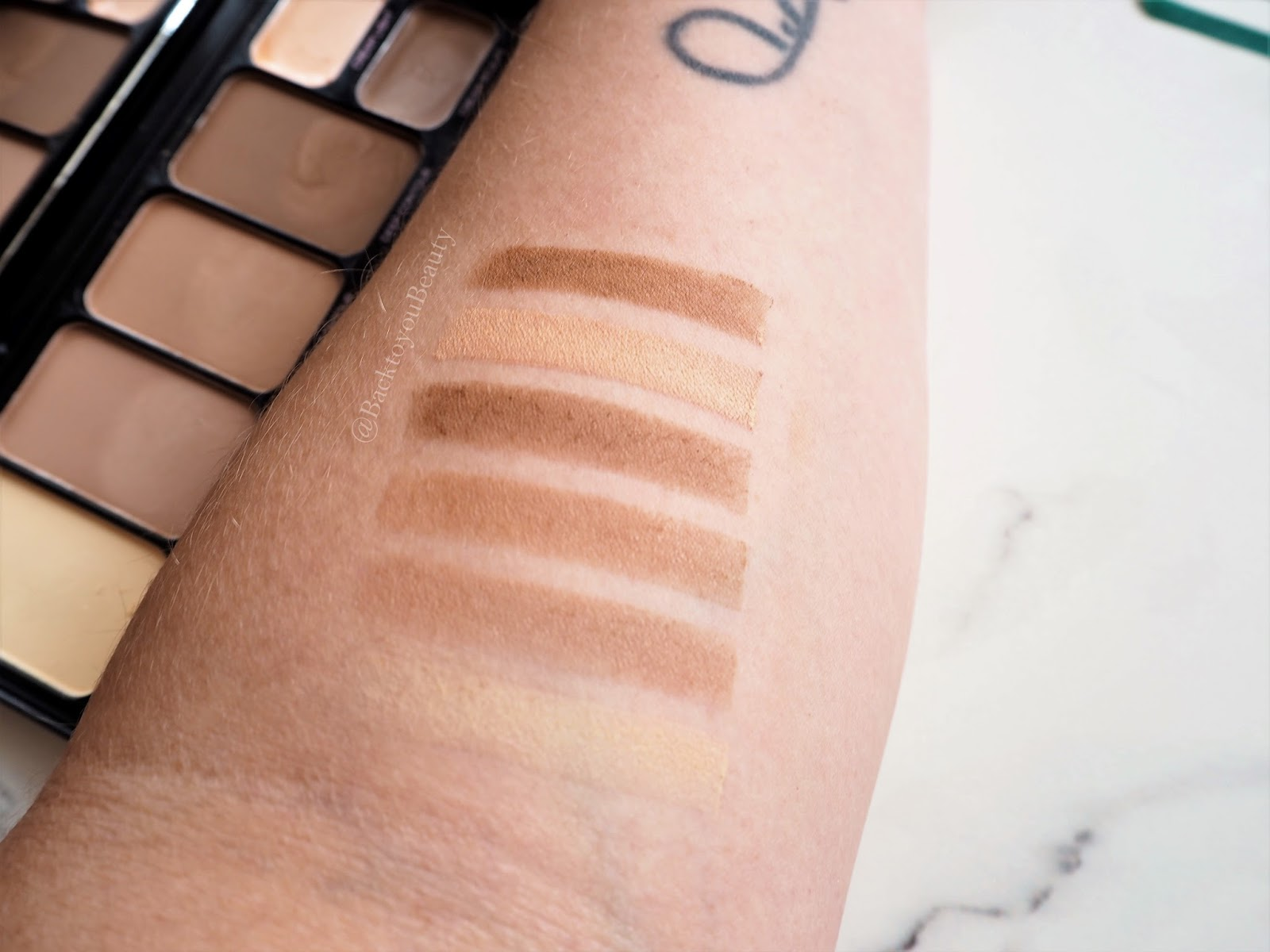 Profusion contour collection swatches