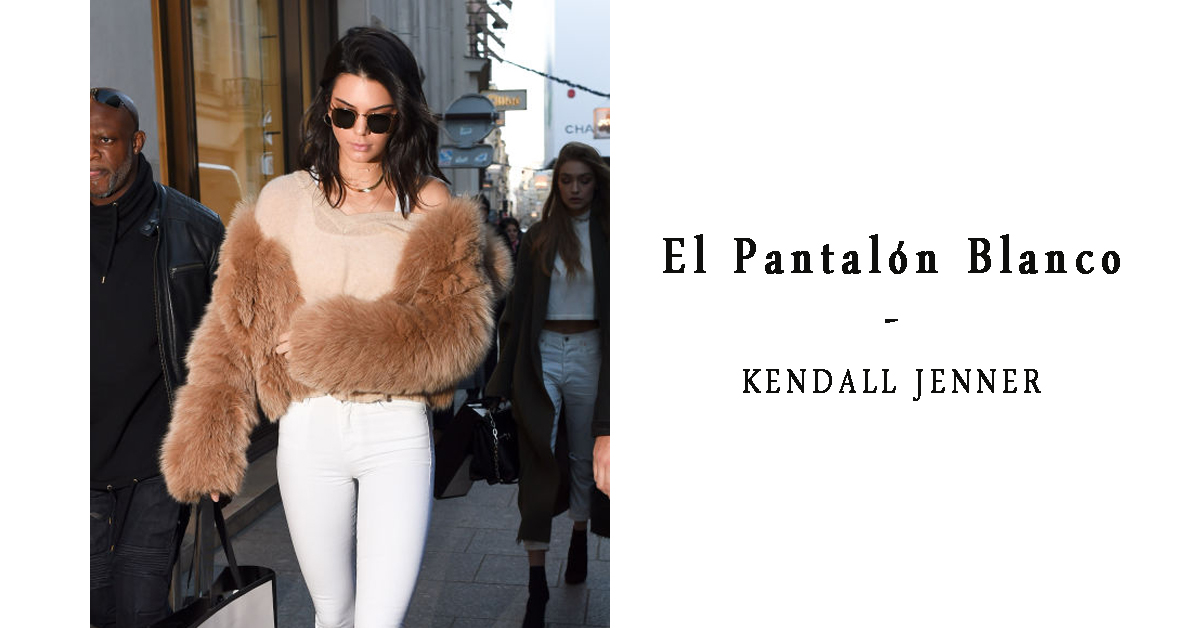 Kendall Jenner Paris white pants