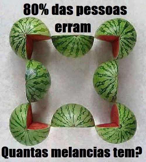 Quantas melancias tem na imagem?