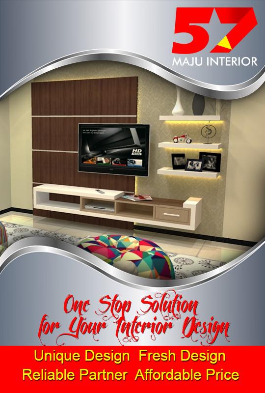 Desain Interior Kediri, Desain Rak TV