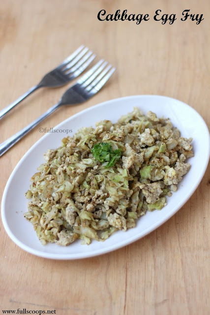 Cabbage Egg Fry