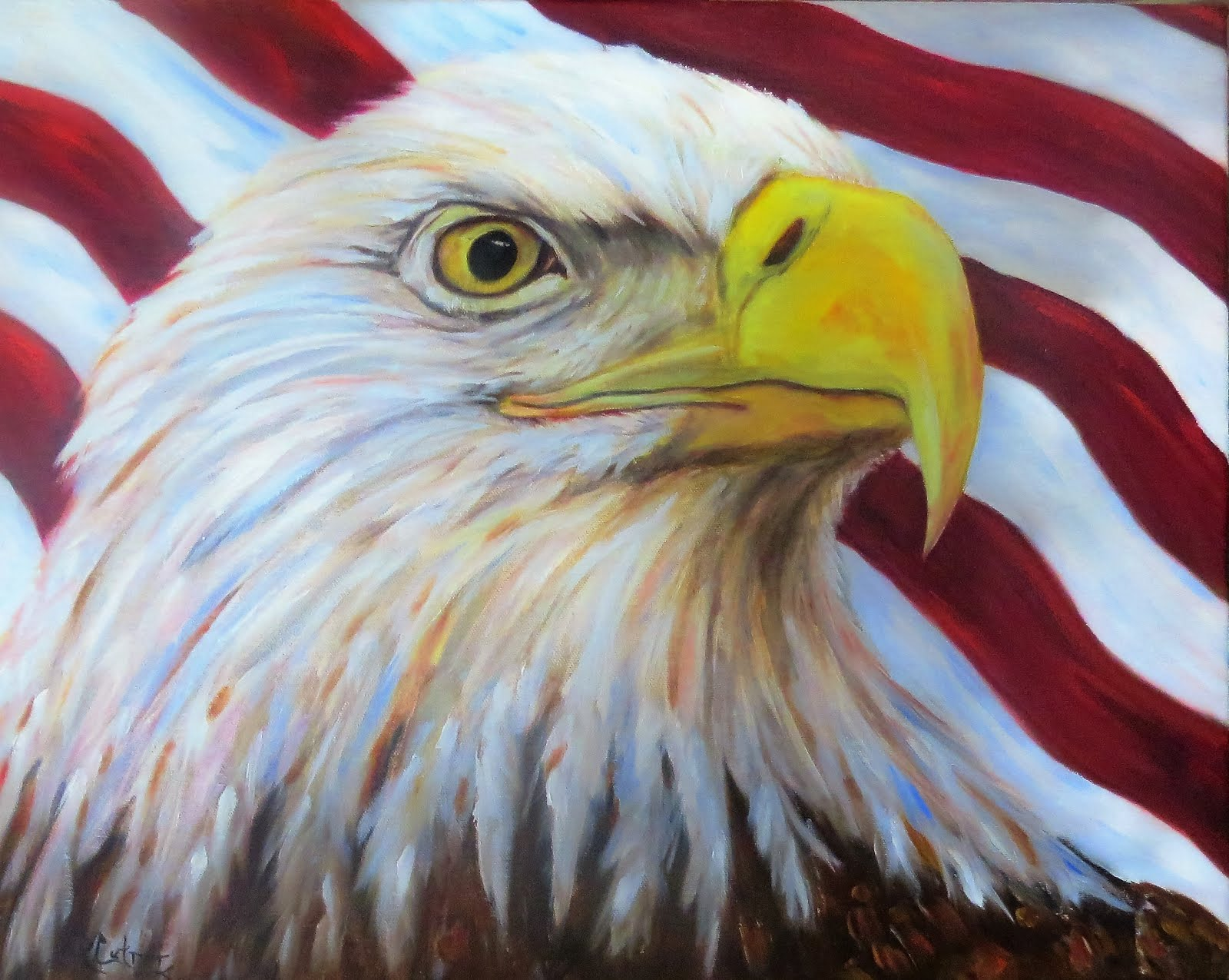 American Spirit, eagle in oils