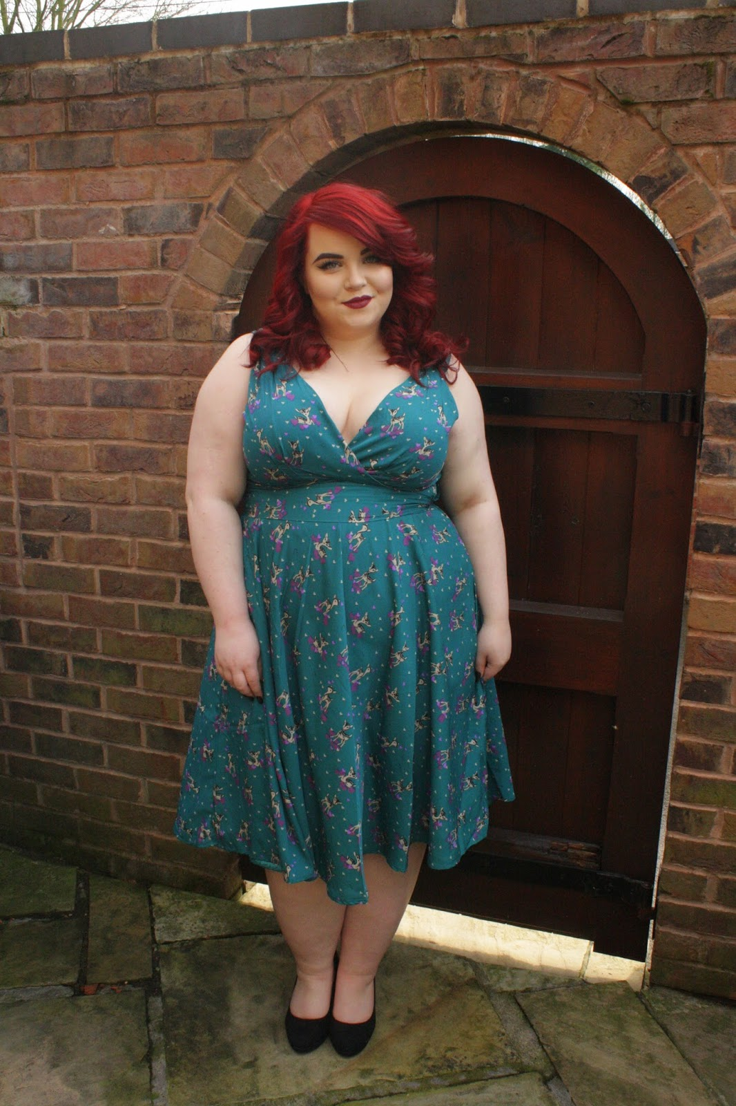 BBW in Blue Dress