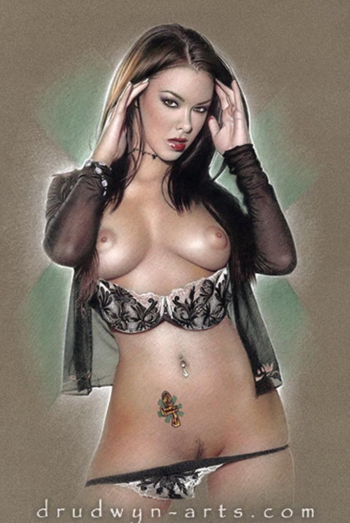 Mujeres que reciben una palmada en el desnudo