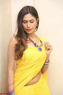 Nishigandha in Yellow backless Strapless Choli and Half Saree Spicy Pics 128.JPG