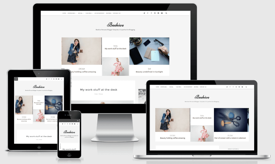 Download Beehive Personal Blogger Template