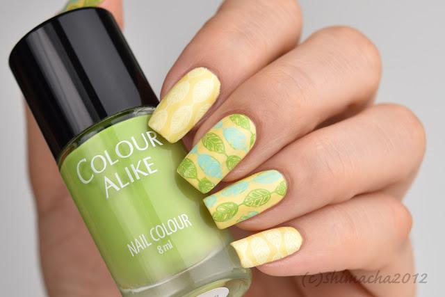 Mayo London Flower Power, Colour Alike Fresh Mojito, Nail Stamping, スタンピングネイル