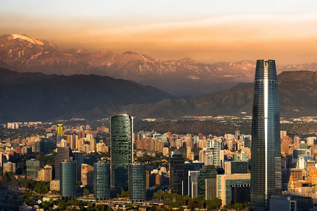Santiago do Chile em abril