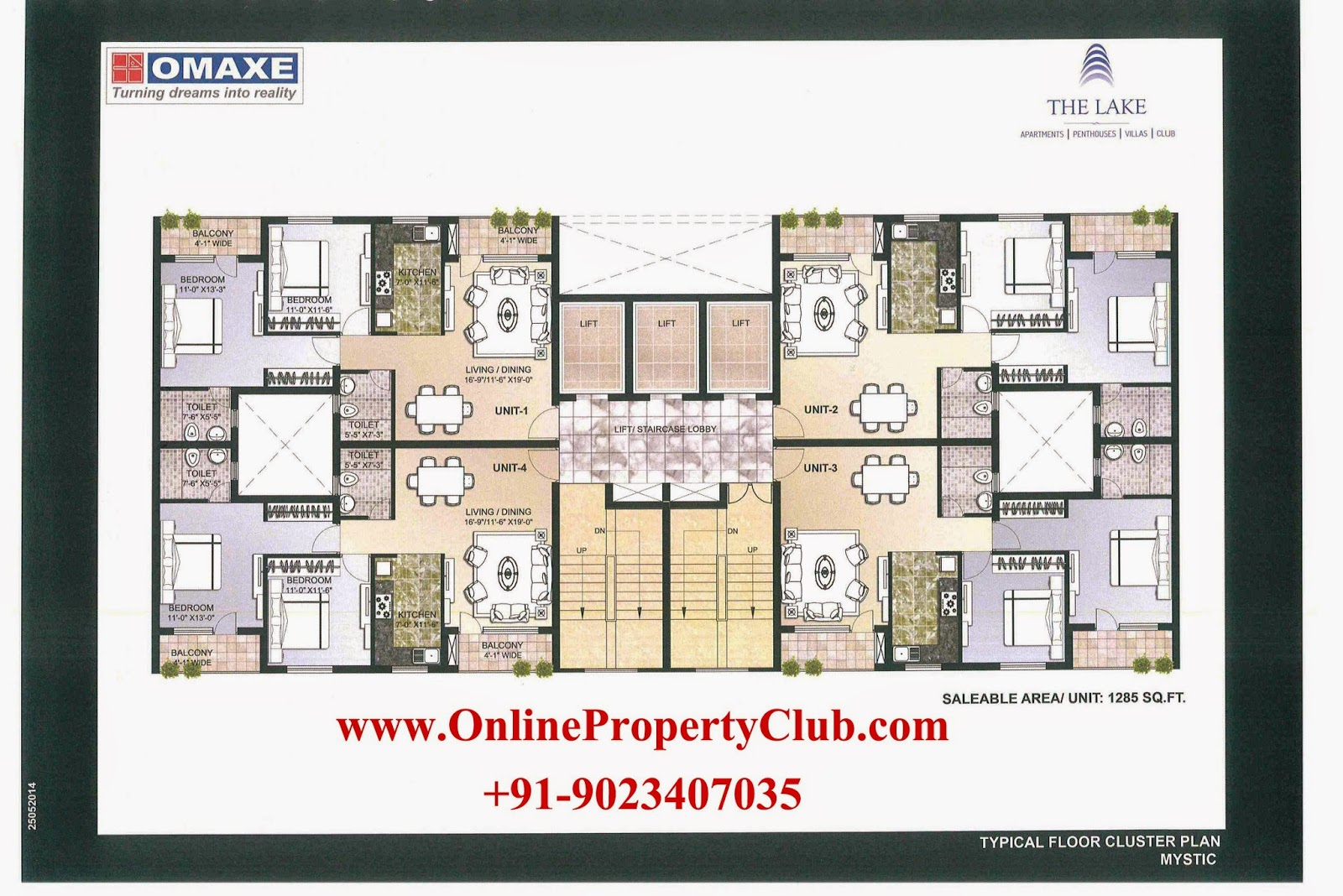 The Lake 2 3 4 Bhk Flats Apartments In Omaxe New Chandigarh Mullanpur