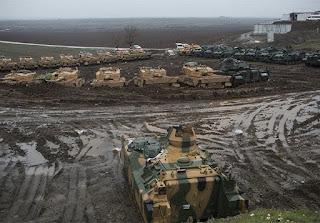 έξτρα σύστημα προστασίας στα άρματα στο Αφρίν