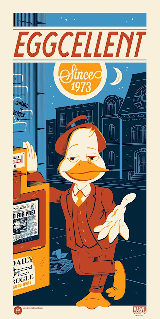 Howard the Duck Eggcellent Since 1973 Marvel Screen Print by Dave Perillo x Grey Matter Art