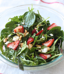 strawberry spinach salad with japanese seven spice vinaigrette recipe