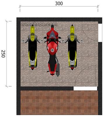 Ukuran Garasi Sepeda Motor