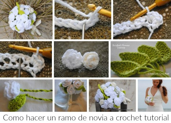 Patrones crochet - Como hacer un ramo de flores artificiales ...