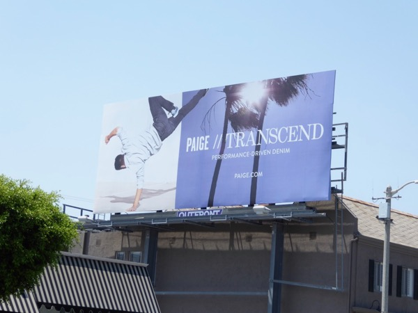 Paige Transcend denim billboard