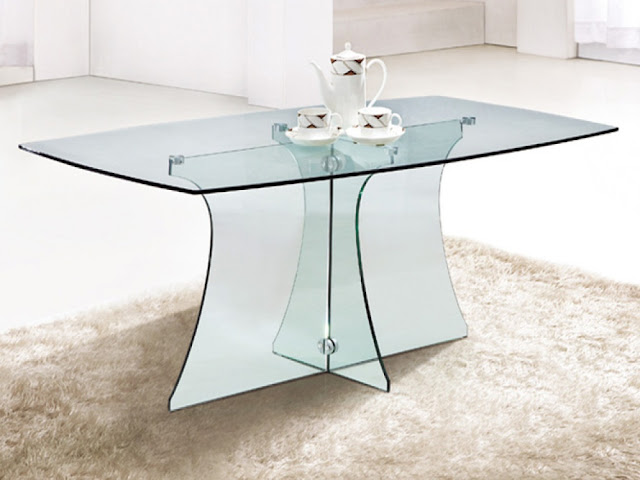 rectangular clear glass table ideas