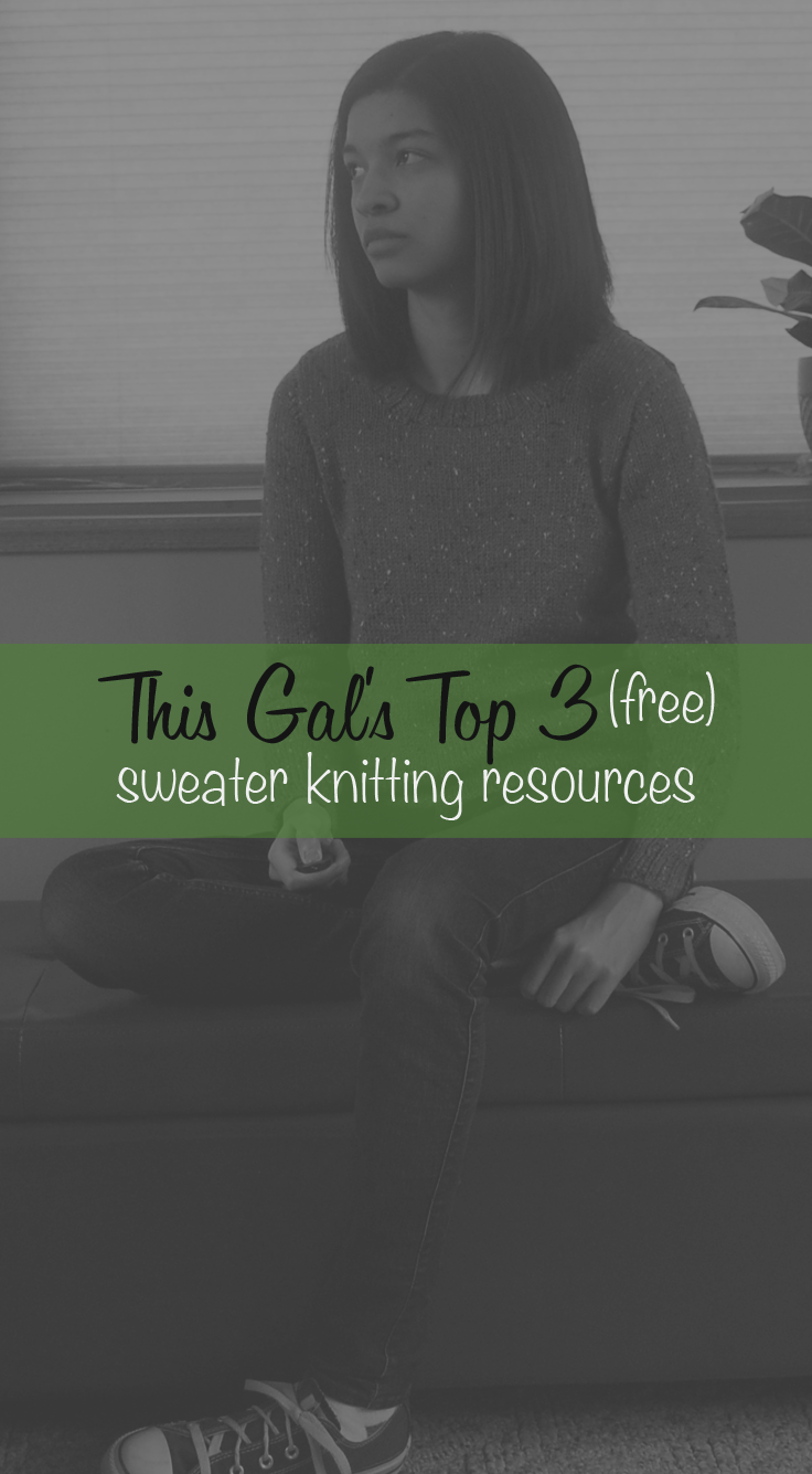 Top 3 sweater knitting resources