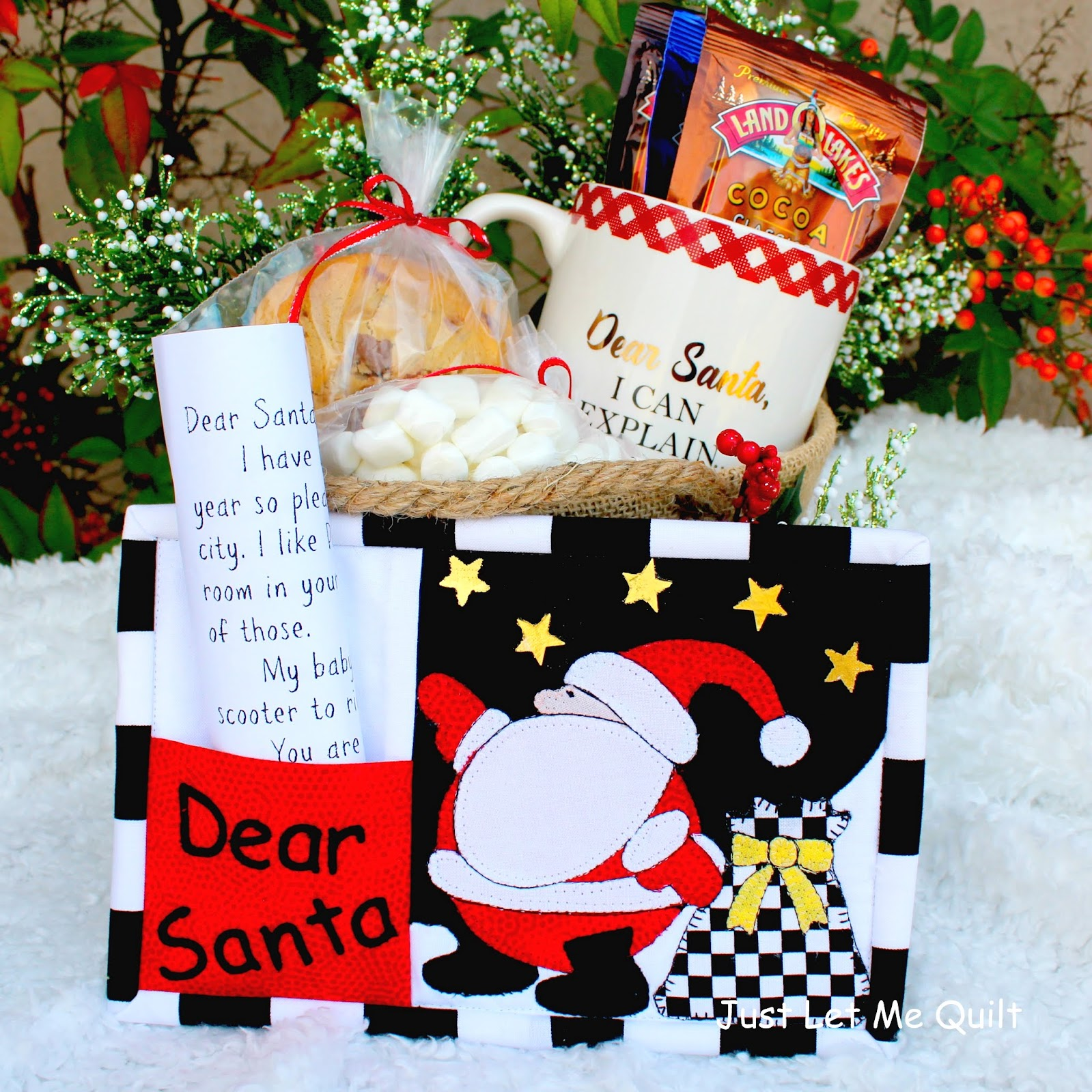 Just let me quilt its never too early to make a christmas gift fill a basket or container with a mug some yummy hot chocolate packets marshmallows and spiritdancerdesigns Gallery