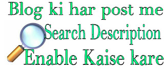 blog-ki-har-post-me-search-description-kaise-enable-kare