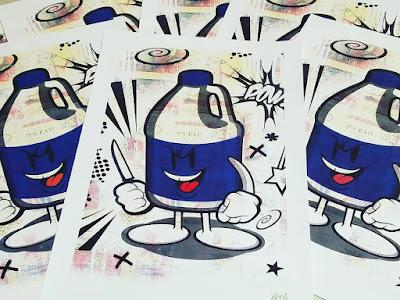 Clorox Hood Goodz Art Print by Sket One x I Am Retro