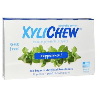 لبان نبكهة الصمغ ( حاليا غير متوفر )  Xylichew Gum, Sweetened with Birch Xylitol, Spearmint, 12 Pieces