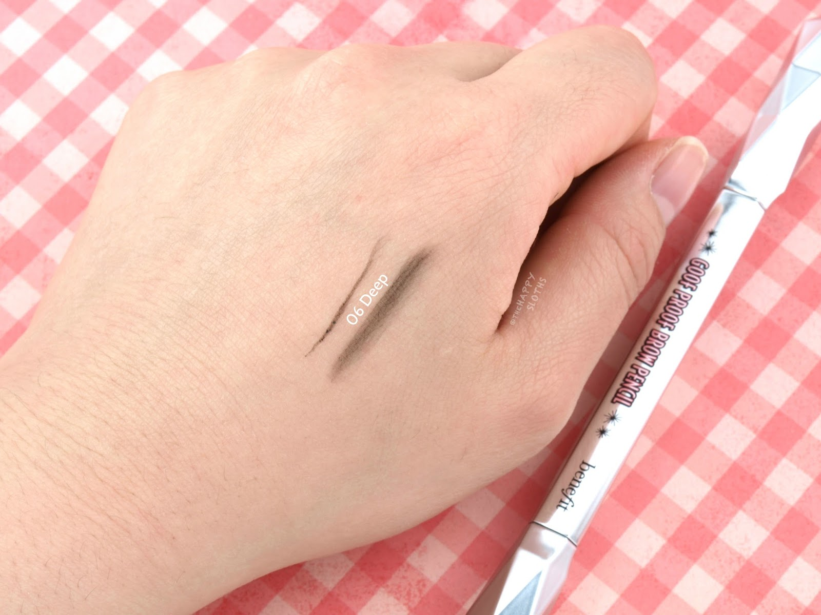 "Benefit Goof Proof Brow Pencil in ""06 Deep"": Review and Swatches"