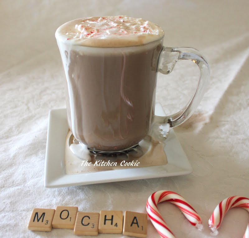 Chocolate Mocha Latte With Peppermint Cream